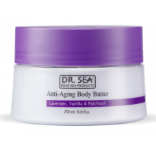 Dr. Sea Dead Sea Products Anti-Aging Body Butter Lavender, Vanilla & Patchouli - Масло для тела против старения «Лаванда, ваниль и пачули», 250 мл.