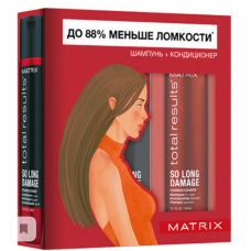Matrix Total Results So Long Damage – Набор для восстановления ослабленных волос, 300 мл. + 300 мл.