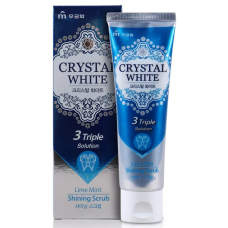 Mukunghwa Toothpaste Crystal White Lime Mint Shining Scrub – Зубная паста с ароматом лайма и мяты, 110 гр.