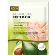 El´Skin Revitalising Foot Mask Avocado – Восстанавливающая маска-носки для ног «Авокадо», 1 пара.