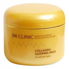 3W CLINIC Collagen Sleeping Pack – Маска для лица ночная с коллагеном, 100 мл.