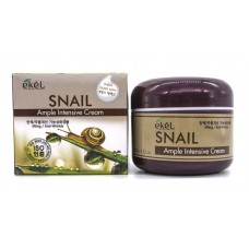 EKEL Ample Intensive Cream Snail - Крем для лица с экстрактом муцина улитки, 100 гр.