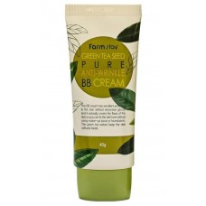 FarmStay Green Tea Seed Pure Anti-wrinkle BB Cream - Антивозрастной ВВ-крем, 40 гр.